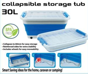 Save Space For Camping, Home, Caravan Folding Collapsible Storage Box