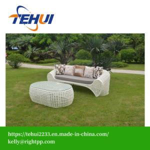 Outdoor Rattan Garden Sofa Set 3 Seats