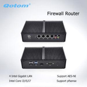 Qotom Intel Core I7 4610y Mini PC Quad LAN Intel Dual Core Small Mini Computer Pfsense