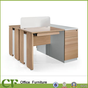 Modern Office Furniture Simple Wooden Computer Desk for 2 Person