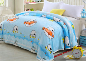 Thickening Single, Double, King Size Printed Flannel Blanket Polyester Blanket (SR-B170316-15)