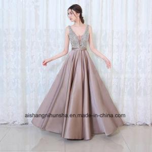 China Women V-Neck Beads Bodice Open Back Evening Dress Prom Dress ... 2beeee65de