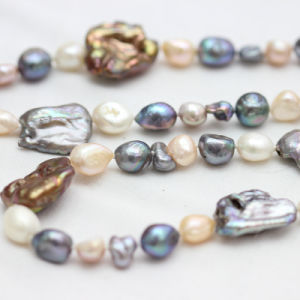 Fashion Jewelry Baroque Freshwater Pearl Necklace (E190026) pictures & photos