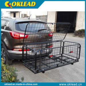 Folding Rear Basket Hitch Mount Luggage Rack (RS010)