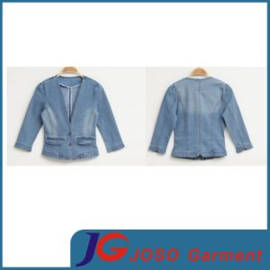 Fashion Ladies Jean Denim Jacket Outwear Short Coat (JC4061) pictures & photos