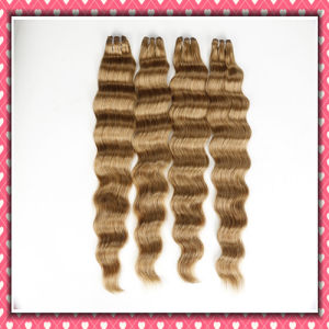 Wavy Human Hair Extension Loose Wave 30inches Brown Color pictures & photos