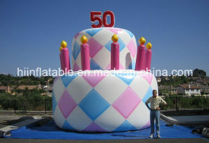 2015 Hot Sale! Customized Giant Inflatable Cake Models for Advertising and Decoration