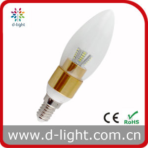 3W E14 Warm White 270 Degree Golden Indoor LED Candle Light