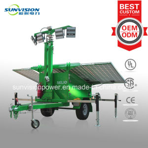 Hybrid Mobile Light Tower, Solar Light Tower with Standby Generator pictures & photos