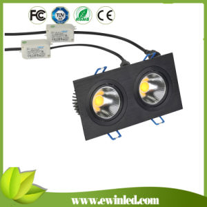 2*6W COB Power LED Square Downlights for Kitchens