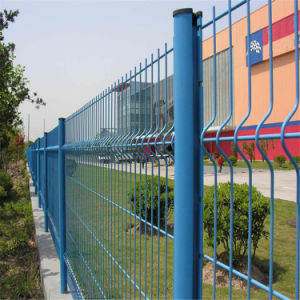 Blue PVC Coated Wire Mesh Fence