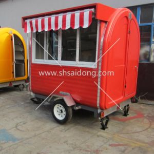 Colourful Mobile Coffee Vending Trailer Fast Food Cart For Sale