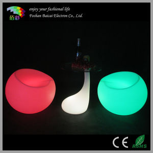 LED Plastic Bar Sofa Cocktail Table