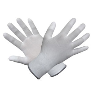 Polyester/Nylon Gloves with White PU Coated pictures & photos
