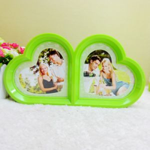 Wholesale 5 Inches Double Peach Heart Photo Frame pictures & photos