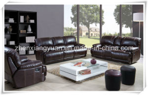 Newly Design Iuxury Italian Genuine Leather Recliner Sofa (A-3671)