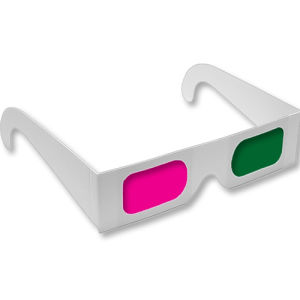 Disposable Paper 3D Glasses for PC with Replaceable Battery pictures & photos