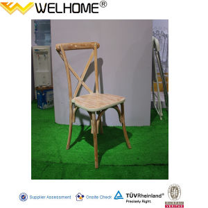 High Quality Beech Wood Cross Back Chair for Sale pictures & photos