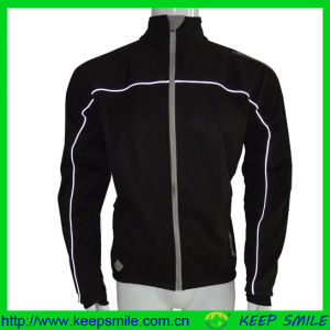 Custom Men′s Winter Cycling Apparel for Jacket with Reflective Piping pictures & photos