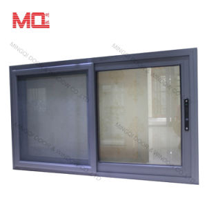 Thermal Break Profile Glass Aluminum Sliding Window with Mosquito Net