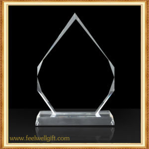 Flame Custom Blank Glass Trophy