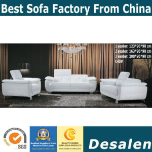 Black Modern Color Wholesale Leather Sofa in Office Furniture (C40) pictures & photos