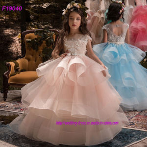 US Kids Lace Flower Girl Dress Girls Wedding Pageant Formal Bridesmaid Long Gown