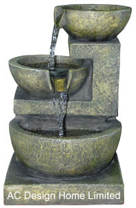 Stone Finish Polyresin Indoor Home Decor Table Top Water Fountain W LED Light