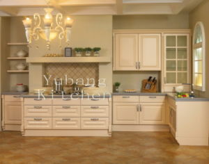 White Color Solid Wood Kitchen Cabinets Home Furniture