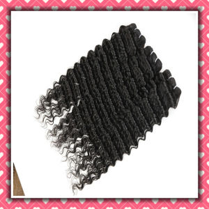 8A Peruvian Human Hair Weft Natural Color Deep Wave 22inches pictures & photos