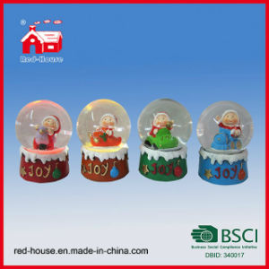 Polyresin Decorative Snowman Snow Globes Wholesale Holiday Crafts LED Lights