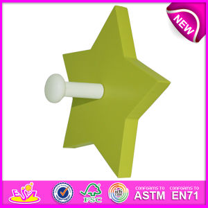2014 New Colorful Kids Wooden Wall Hook Toy, Popular Cute Star Design Children Wall Hook, Hot Sale Lovely Baby Wall Hook W09b026 pictures & photos