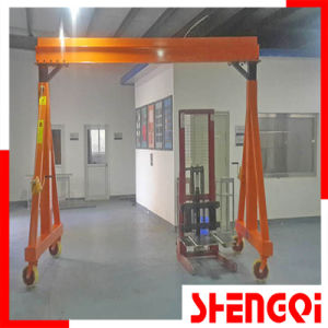 Mobil Manual Portal Adjustable Crane 2t pictures & photos