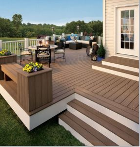 Factory Directly! Popular Outdoor Decking Plastic Wood Decking WPC