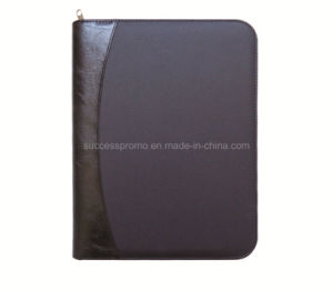 High Quality Leather Cover 4 Ring Binder File Folder pictures & photos
