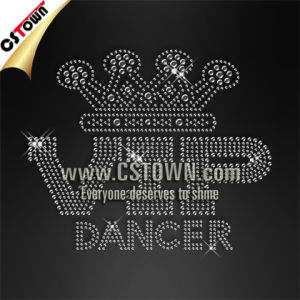 VIP Dancer Letter Rhinestud Bling Iron on Transfers for T-Shirts