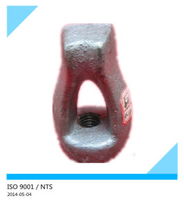 Forged Galvanized Oval Eye Bolt Thimble Eye Bolt Overhead Line Fitting pictures & photos