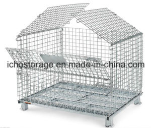 Warehouse Stackable Steel Wire Mesh Pallet Cage pictures & photos