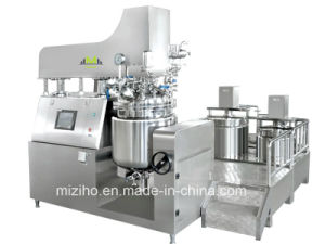 Skin Care Cosmetic Vacuum Emulsifying Mixer Siemens PLC Touch Screem pictures & photos