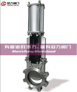 Pneumatic Knife Gate Valve for Water Treatment Industry pictures & photos