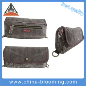 Women Washed Canvas Casual Carry Handle Hand Cosmetic Case Bag pictures & photos