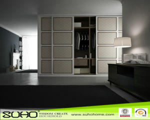 Golden Line Sliding Wardrobe Door with Aluminium Profile