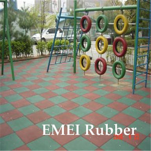 Rubber Bounce Back Playground Tile/Rubber Safety Flooring/Rubber Outdoor Floor pictures & photos