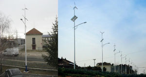 Wind Solar LED Lamp System Wind Generator Solar PV Panels