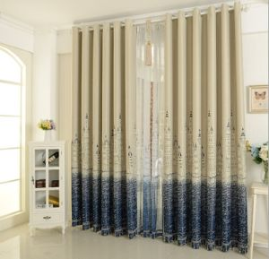 One Side Print Fabric Curtain Blackout Curtains (MM-176) pictures & photos