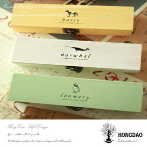 Hongdao Custom Retro Beautiful Wooden Pencil Case Storage Box Wholesale _E