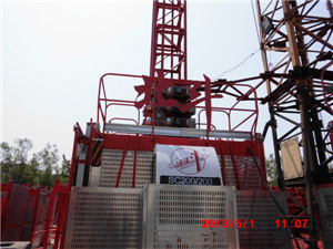 CE/ISO/GOST Certificated Sc Series Construction Hoist for Passenger and Material pictures & photos