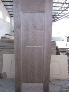 Natural Walnut Veneered HDF Door Skin pictures & photos