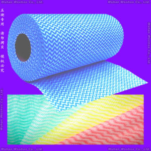 Super Absorbent Spunlace Non Woven Cleanup Roll Cloth for Household pictures & photos