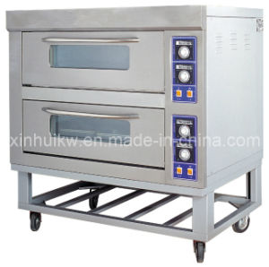 2-Deck 4-Tray Stainless Steel Infrared Baking Oven with CE